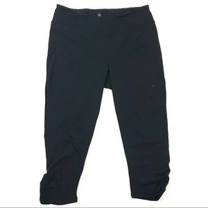 Gaiam XL Cropped Ruched Leg Leggings Activewear